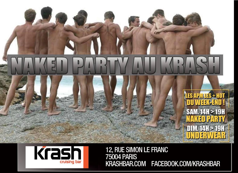 naked Party - Orgy Men gay Paris naked krash